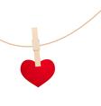 heart clothespin vector image