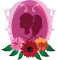 romantic silhouette vector image vector image