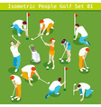 Golf Set 01 People Isometric vector image vector image