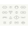 Vintage geometric hipster borders for labels vector image