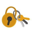 safety lock with keys vector image