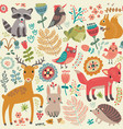 animal forest pattern vector image