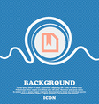 bookmark sign icon Blue and white abstract vector image
