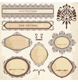 collection of ornamental elements vector image