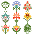 Color vintage oriental flowers pattern isolated vector image