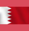 flag of bahrain - vector image