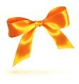 Orange isolated bow on white background vector image