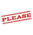 Please Watermark Stamp vector image