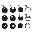 set of coconut icon in thailand style vector image