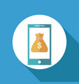 smartphone bag money online banking vector image
