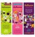 Halloween Party Invitation Flyers vector image