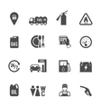 Fuel Pump Icons Set vector image