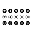 set diamond new icons vector image vector image