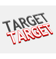 3d target text design vector image