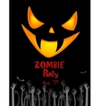 Zombie Party vector image vector image