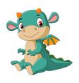 Cute baby dragon vector image vector image