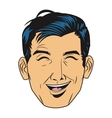 man laughing icon vector image
