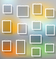 Blank picture frame set on blured background vector image