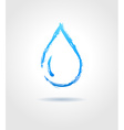 Abstract blue water drop on gray background vector image