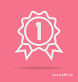 award outline icon white color vector image
