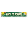 back to school banner vector image