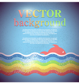 background for design on sea subjects vector image