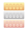Colored Pills Blisters vector image