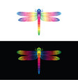 colorful dragonfly design on white background and vector image