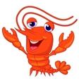 Cute lobster cartoon presenting vector image