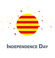 independence day of catalonia patriotic banner vector image