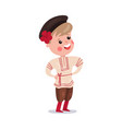 little boy wearing traditional costume of russia vector image