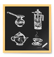 Tea and coffee vector image