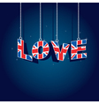 United kingdom love vector image