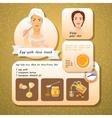 Egg Yolk Face Mask Recipes vector image