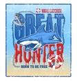 greate hunter shark vector image