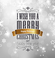 Christmas greeting card front cover page with vector image vector image