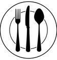 Black Cutlery Symbol vector image vector image