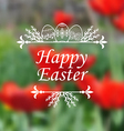 easter tulip blur vector image vector image