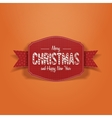 Christmas paper greeting Card on Snow Background vector image