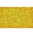 Yellow brick wall vector image