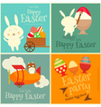 Easter Cards Set with Easter Bunny vector image vector image