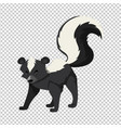 cute skunk on transparent background vector image