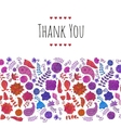 Doodle flowers card vector image