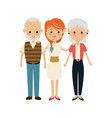 family people mother with gradpa and grand mom vector image