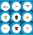 flat icon clothes set of sneakers banyan casual vector image