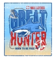 greate hunter shark vector image