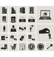 Houses and real estate web icons set vector image