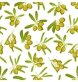 Olives seamless pattern background vector image