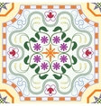 Seamless pattern with chinese ornament floral vector image
