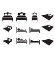 set of hotel icon bed sign vector image
